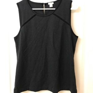 Dark Grey J crew sleeveless Shirt Size M